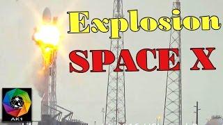 Explosion Fusée Falcon 9 de Space X et du Satellite Amos-6 pour internet.org de FaceBook, Elon Musk