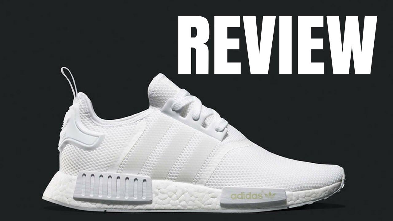 38b9c40a76478 Adidas Triple White Nmd R1 Review - YouTube