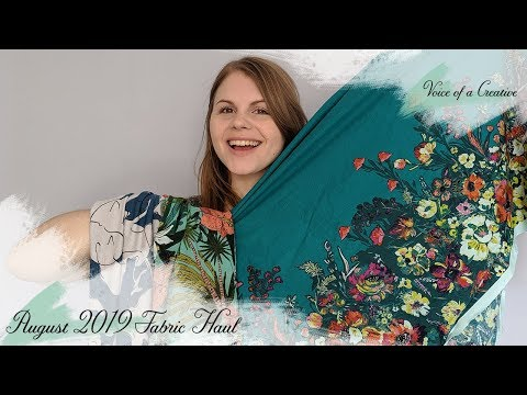 August 2019 Fabric Haul And Sewing Plans