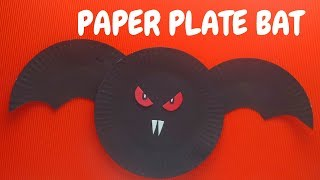 Halloween Craft - Paper Plate Bat - Paper Plate Crafts & Download Paper Plate Videos - Dcyoutube