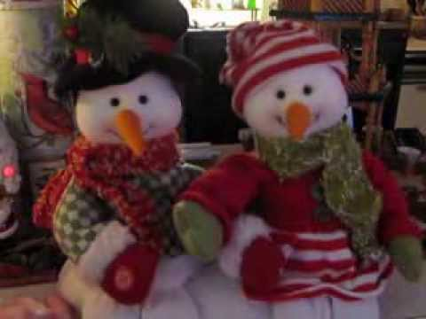 Mr And Mrs Snowman Singing We Wish You A Merry Christmas Youtube