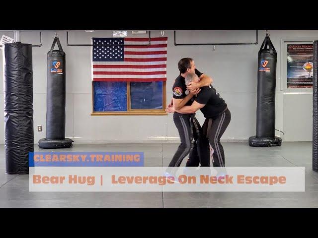Krav Maga | Bear Hug Leverage on the Neck - Lesson 101