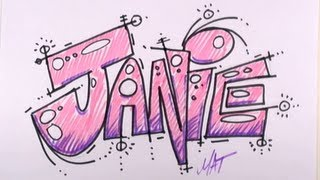 Graffiti Writing Janie Name Design - #24 in 50 Names Promotion | MAT