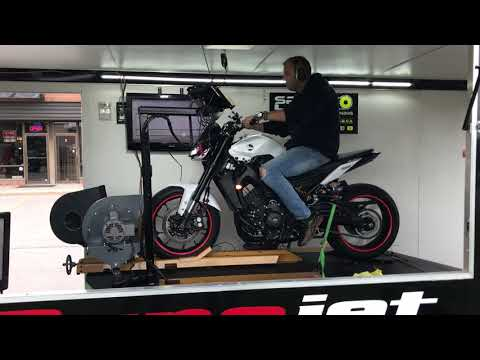 2017 FZ09 MT09 Full Exhaust ECU Flash Dyno Tune Results