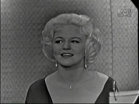 What's My Line?  Peggy Lee; Ben Gazzara panel; Martin Gabel panel Feb 28, 1960