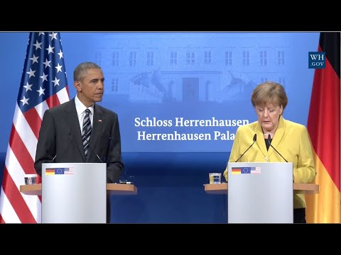 Obama And German Chancellor Angela Merkel - Full News Conference