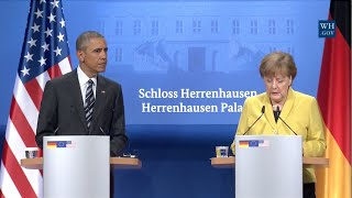 Obama And German Chancellor Angela Merkel - Full News Conference
