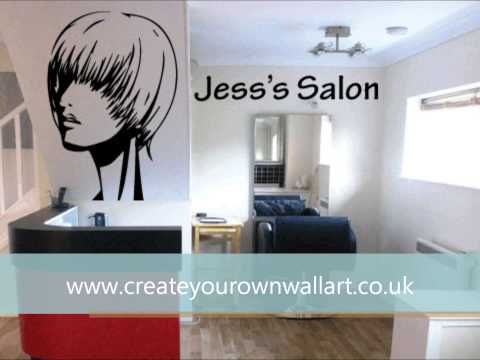 Hair Salon Vinly Wall Art