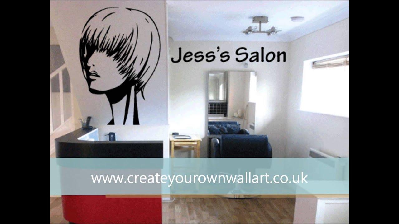 Hair Salon Vinly Wall Art - YouTube