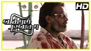 Vikram Vedha Movie Scenes | Vijay Sethupathi reveals truth about Prem | Madhavan
