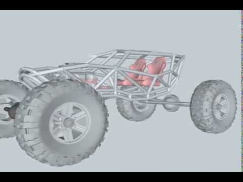 4x4 Buggy frame, 3D Drafts and design - YouTube