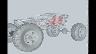 4x4 Buggy frame, 3D Drafts and design