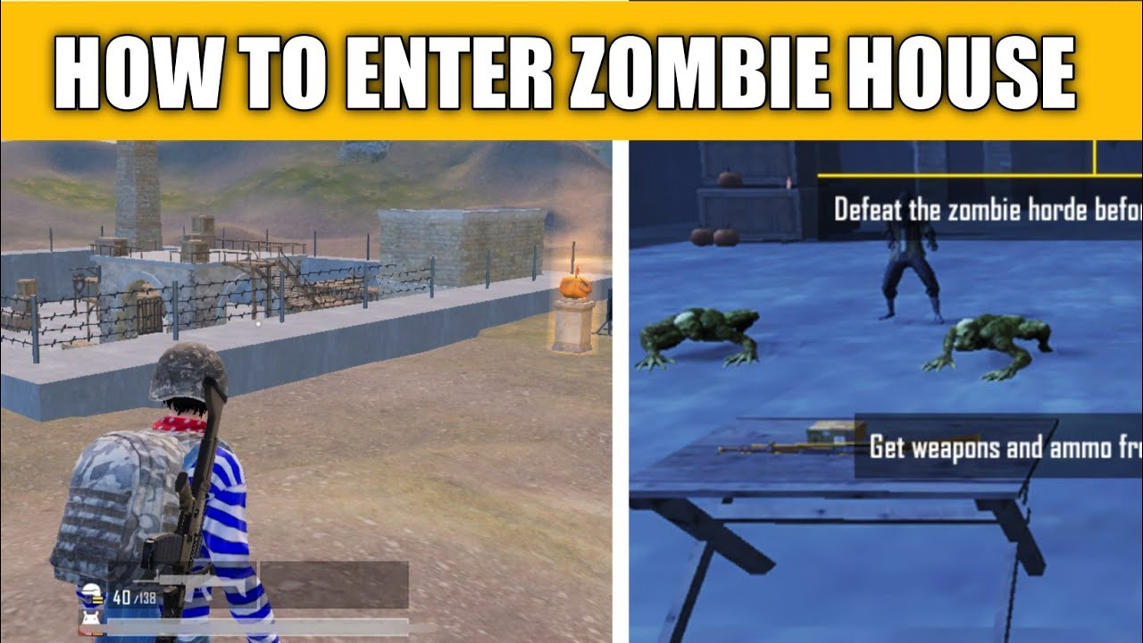 HOW TO ENTER ZOMBIE HOUSE IN CHEER PARK IN PUBG MOBILE