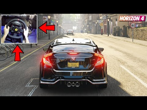 Forza Horizon 4 - Honda Civic Type R 2018 (Steering Wheel w/ Clutch + Shifter) Gameplay thumbnail