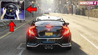 Горизонт Forza 4 - Хонда Цивік тип 2018 Р (рульове колесо з/ муфти + Шифтер) геймплей