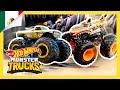 ¡Autos Hot Wheels vs. Monster Trucks en la Montaña Épica de Loops! | Isla de Monster Trucks