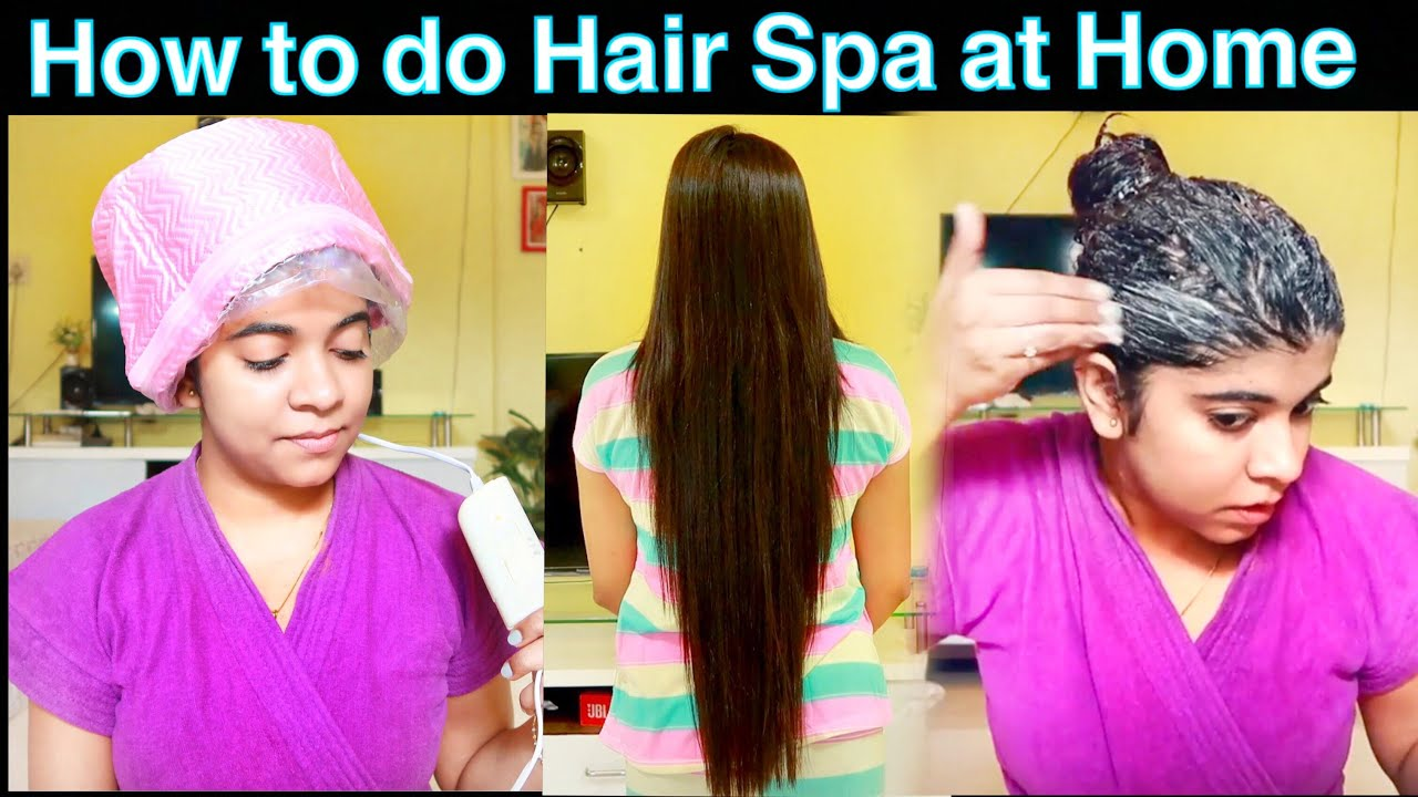 How To Do Hair Spa At Home Hindi Salon Style Hair Spa At Home For Dry Damaged Hair Youtube