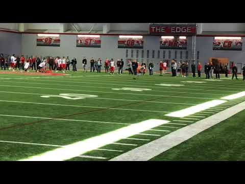 J.T. Barrett passing drills at Ohio State Pro Day