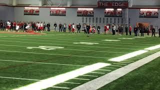 J.T. Barrett passing drills at Ohio State Pro Day