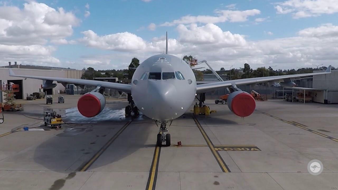 No. 33 Squadron KC 30A Wash Timelapse Video