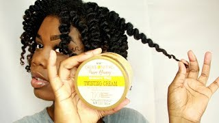 creme of nature pure honey|defined curls without gel,twist out,natural hair,curlbox
