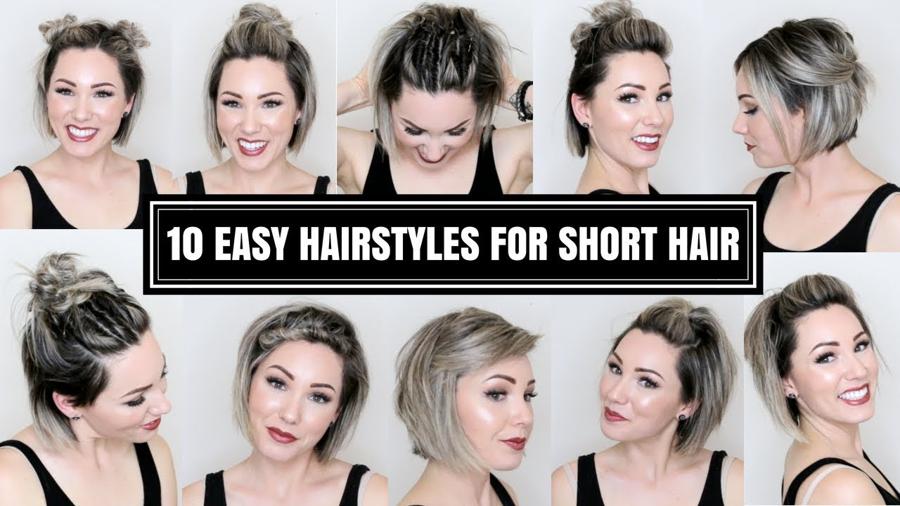 A Hairstyles For Short Hair: 10 EASY HAIRSTYLES FOR SHORT HAIR