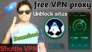 Free VPN proxy ! Unblock sites - Shuttle VPN 2021 #internet. screenshot 5