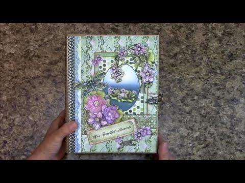 PART 1 TUTORIAL 7 X 9 ALBUM USING HEARTFELT CREATIONS WINKING FROG PAPER -  DESIGNS BY SHELLIE