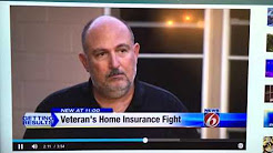 Home Insurance fight leaves Marines Veteran in Tent