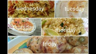 Monday to Friday 10 minute breakfast recipes in Telugu/Easy to make breakfast recipes/Indianmom