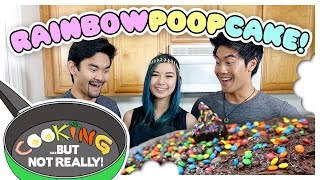 Cooking, But Not Really: RAINBOW POOP CAKE!