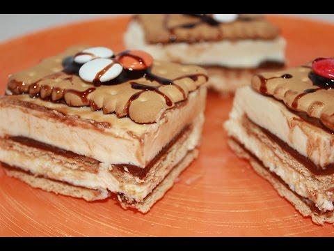 Resultado de imagen de tarta crema chocolate blanco y galletas