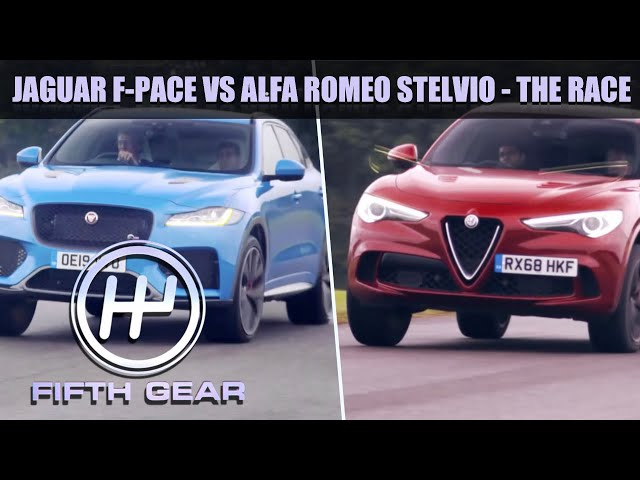 Jaguar F-Pace VS Alfa Romeo Stelvio - On the track   Fifth Gear