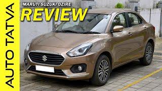 Maruti Suzuki Dzire : Detailed Review with Pros & Cons   Auto Tatva   Hindi