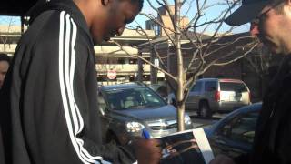 Yakhouba Diawara Signing Autographs In Detroit On 3/21/09