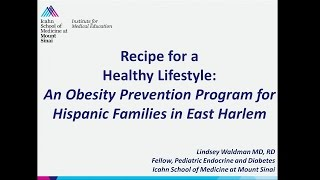 Recipe for a healthy lifestyle: an obesity prevention program hispanic mothers of east harlem