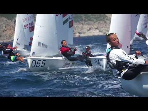 6 July 2018 - Race Day 1 2018 420/470 Junior European Championships, Sesimbra, Portugal