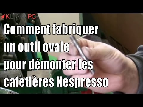 brico fabriquer outil ovale pour demonter ouvrir cafetiere nespresso youtube. Black Bedroom Furniture Sets. Home Design Ideas