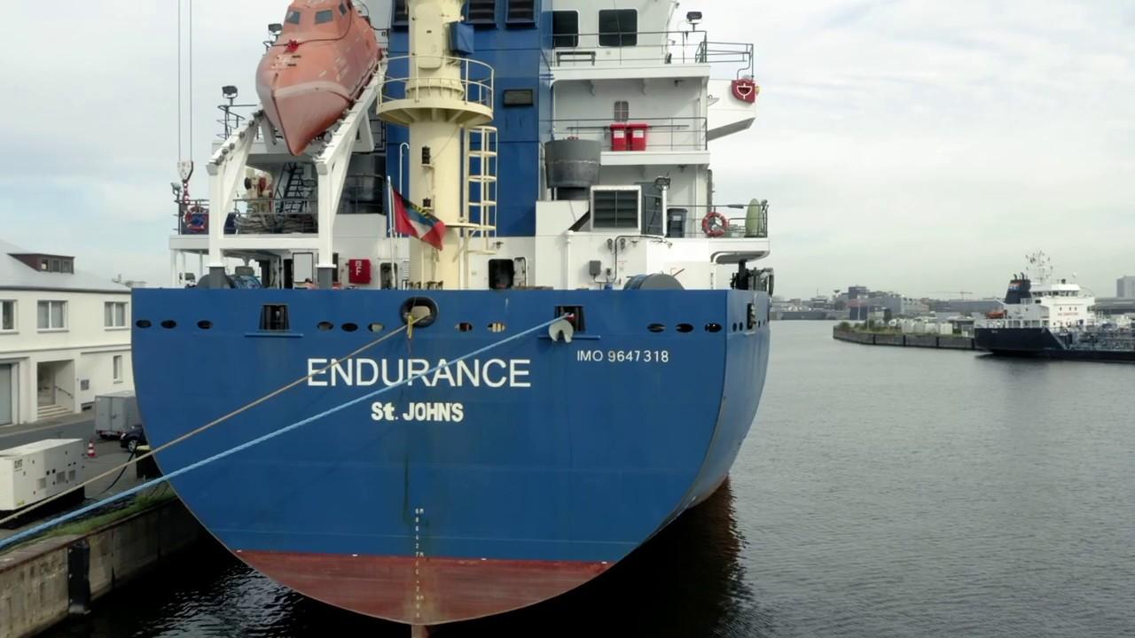 Drohnen-Aufnahmen von einem Schiff in Bremerhaven 1