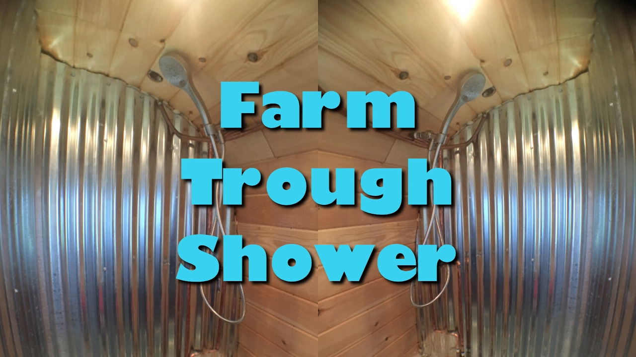 FARM TROUGH SHOWER -Tiny House!
