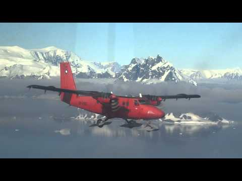 Twin Otter Formation flying in Antarctica