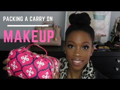 Packing A Carry On - Travel Makeup Bag | Pack With Me