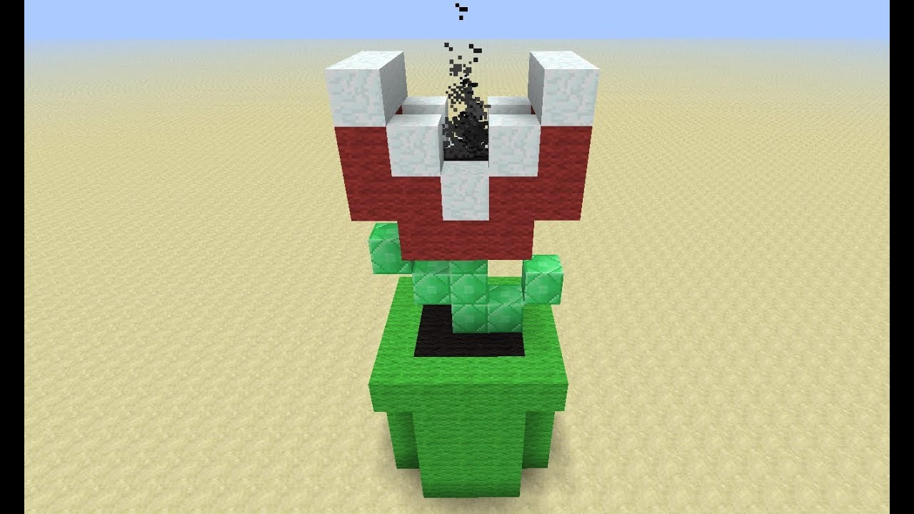 Piranha plant in minecraft youtube for Plante mario