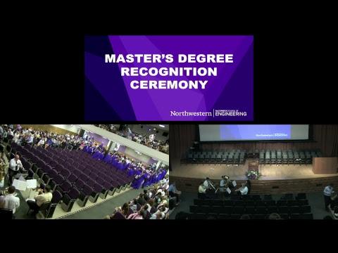 2017 Northwestern Engineering Master's Degree Graduation