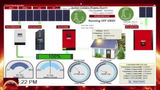 Solar 48 volt Hybrid - Off Grid System. Bus Bar Problem Fixed. AC DC monitoring Program update