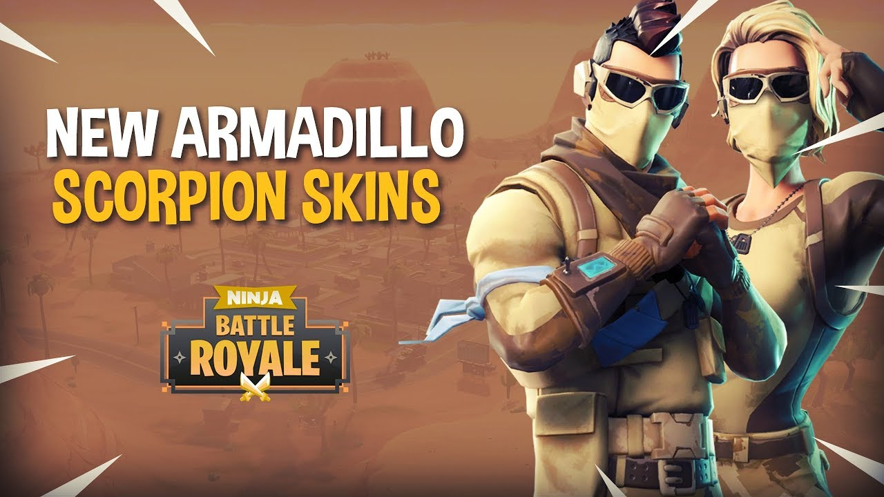 New Armadillo Scorpion Skins Fortnite Battle Royale Gameplay