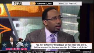 ESPN First Take   Pete Rose  'I'd love to talk' to Rob Manfred