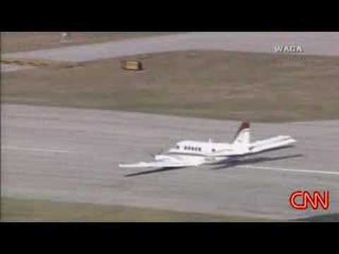 This emergency landing (lading gear failure)