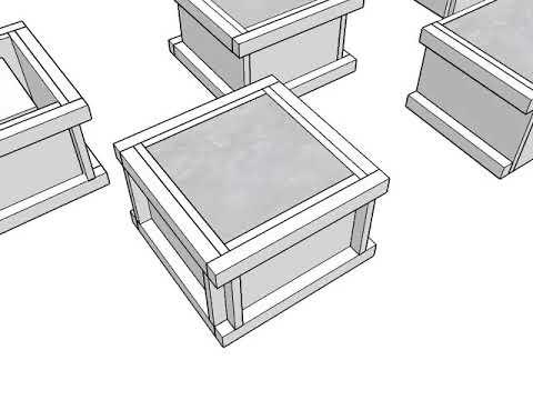 Plan 3D Regard Béton  Sketchup 2016