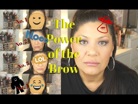 Trying 4 Eye Brow Styles...Au Naturelle to O.M.G!